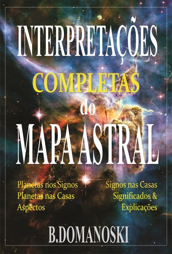 """Capa do E-book de Astrologia """"Interpretações completas do Mapa Astral"""""""