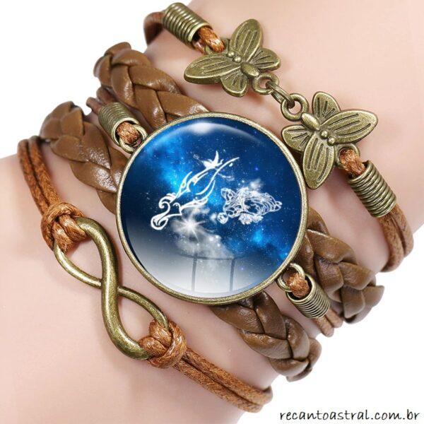 comprar signo de virgem virginiana virginiano bijuteria pulseira bracelete