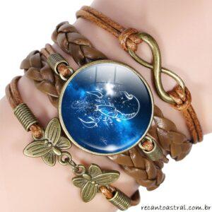bracelete escorpião signo do zodíaco