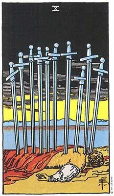 10 de espadas traição sol em gêmeos